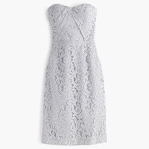 J. Crew Strapless Lace Kelsey Bridesmaid Dress